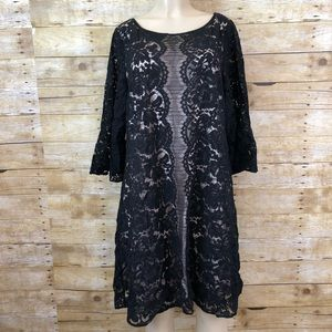 Lane Bryant Black Lace Dress Size 20